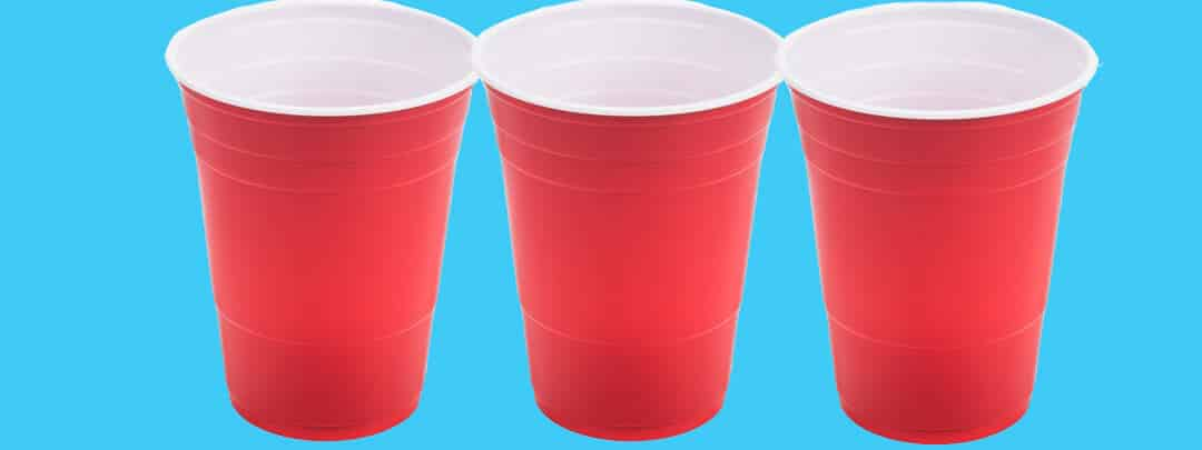 Red Solo Cup for Flip Cup Drinking Game