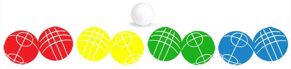 What's included in Bocce Game | 8 balls with 4 color sets and Target
