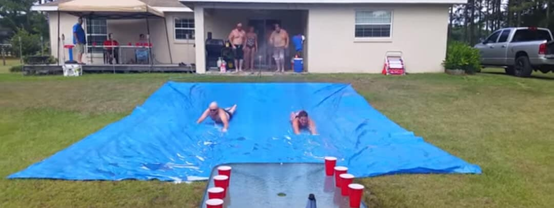 Slip and Flip Cup | Outrageously fun outdoor game