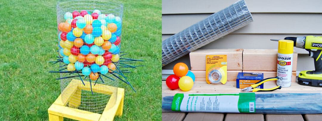 Giant Kerplunk DIY
