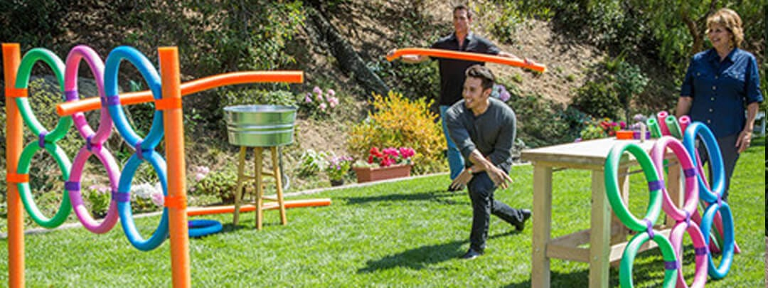 Pool Noodle Toss DIY