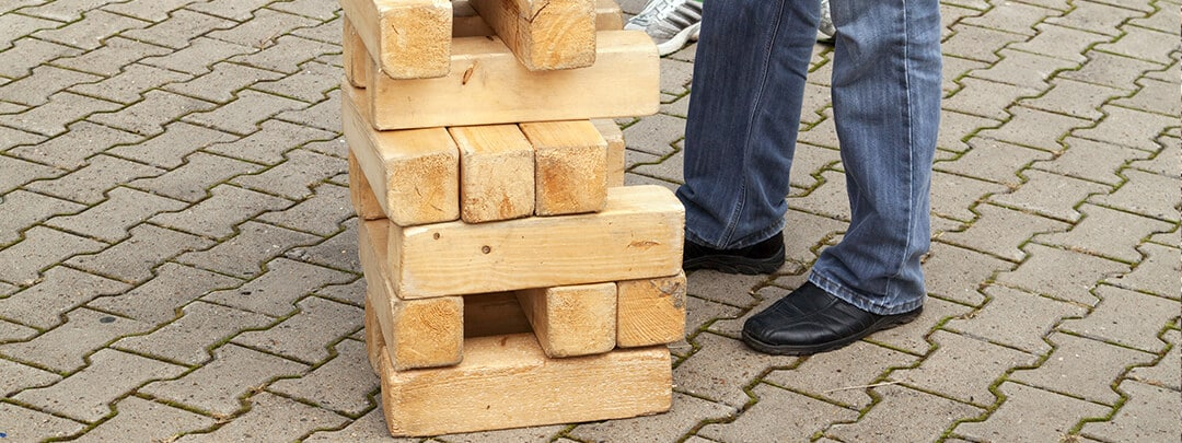 Giant Jenga buy online or build your own