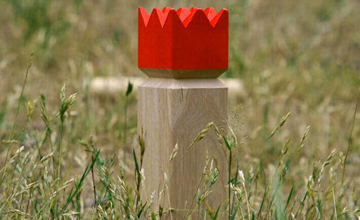Kubb Outdoor Lawn Game with Drinking Game Rules