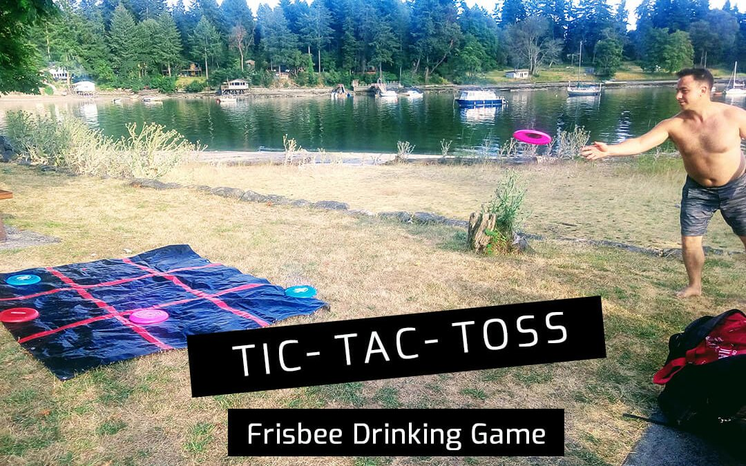 Tic-Tac-Toss Frisbee Drinking Game