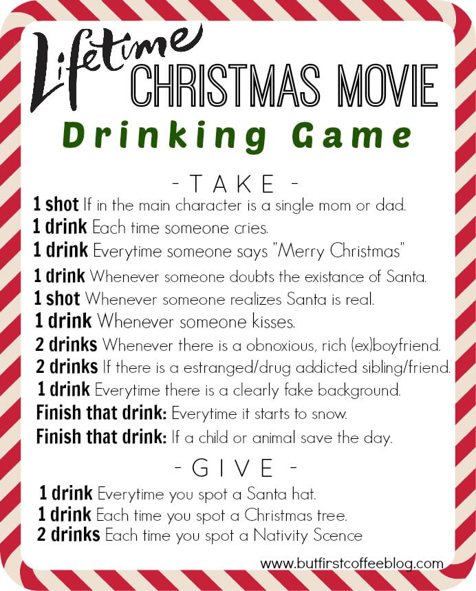 10 Favorite Christmas Movie Drinking Games 7