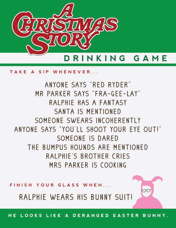 10 Favorite Christmas Movie Drinking Games 3
