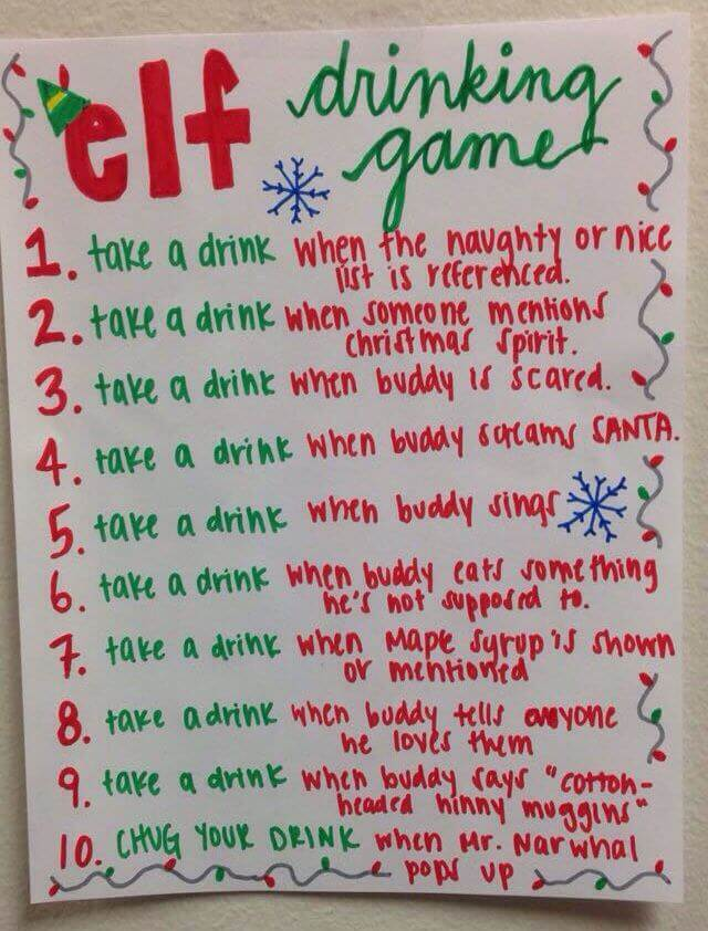 Elf Drinking Game