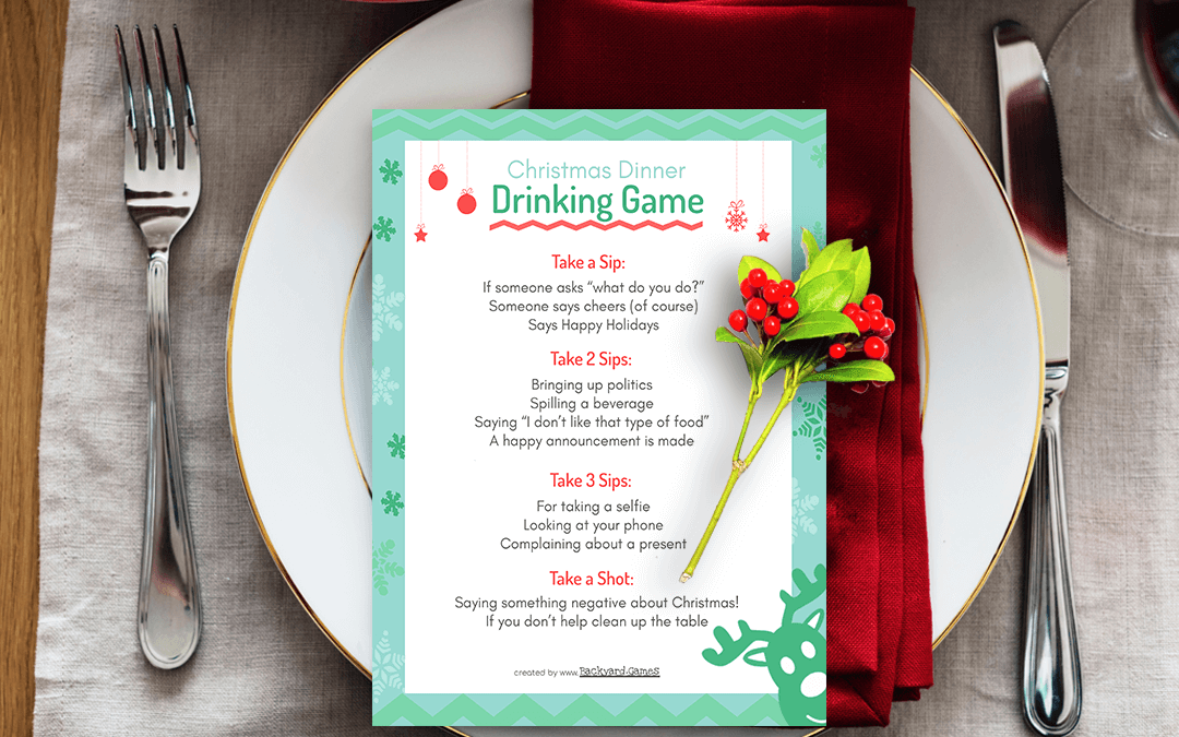 Christmas Dinner Drinking Game, This will Spice up your Christmas Party!