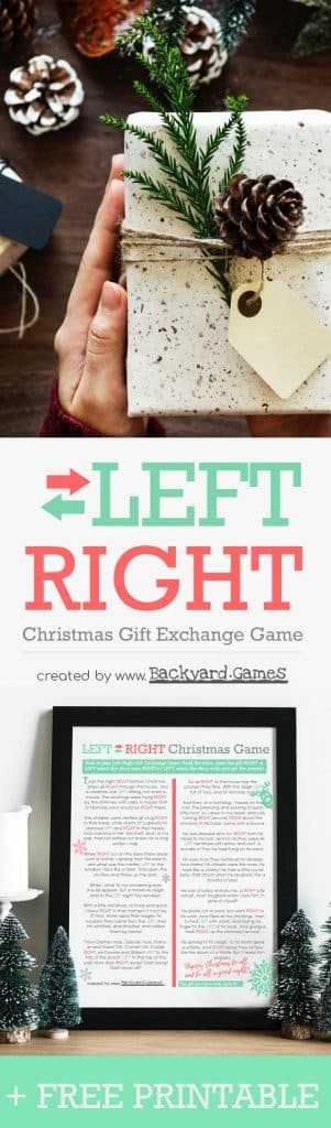 Left Right Christmas Gift Exchange Game