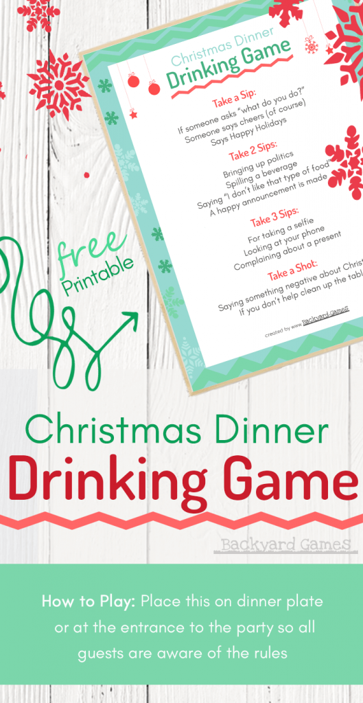 Christmas Dinner Drinking Game, This will Spice up your Christmas Party! 1