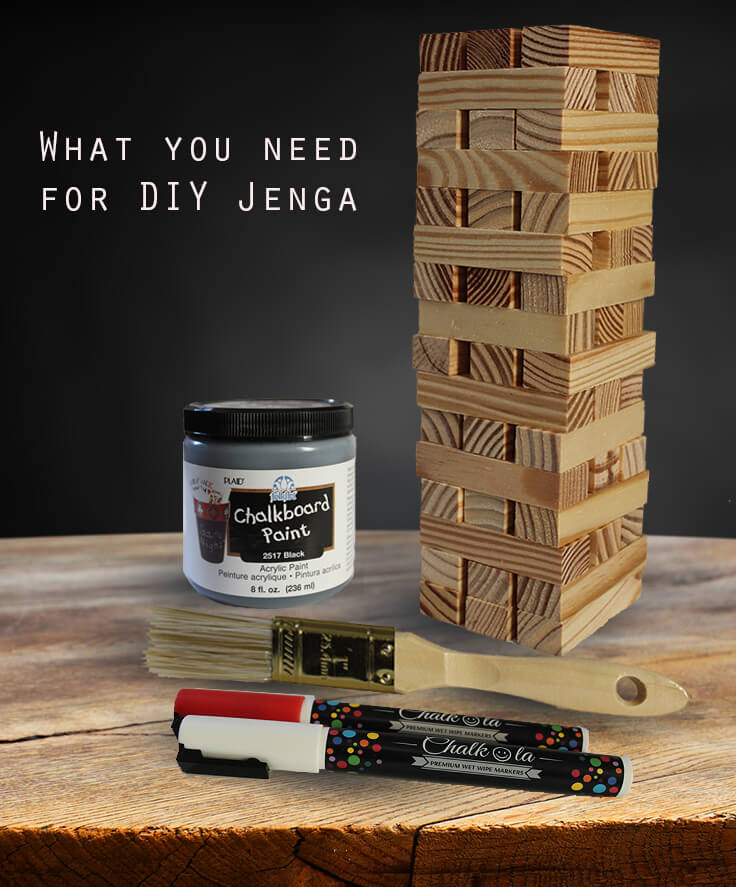 DIY Christmas Jenga Supplies