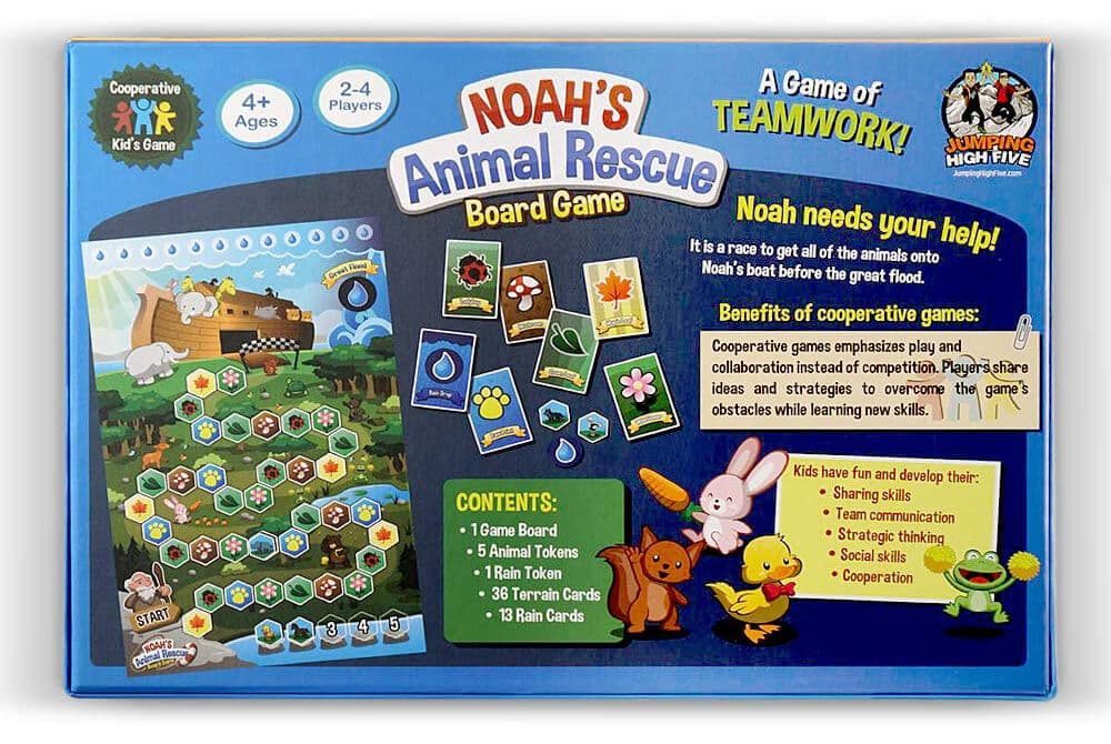 How to Play Noah's Ark Animal Rescue Kids Board Game 2