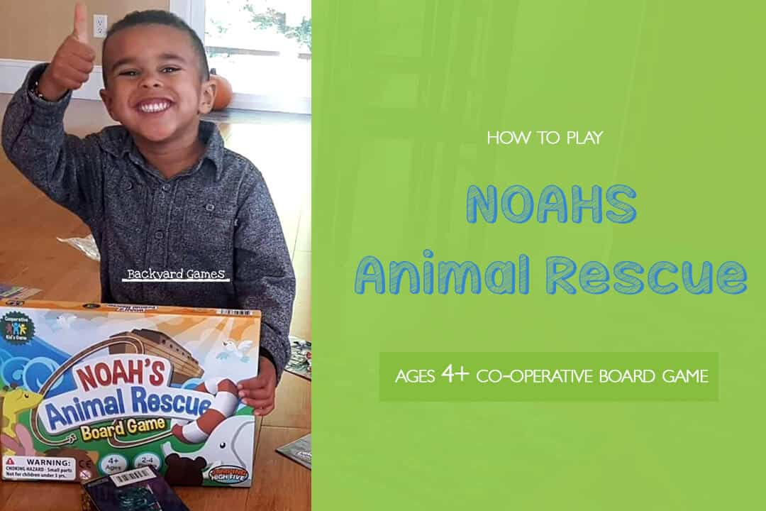 How to Play Noah's Ark Animal Rescue Kids Board Game 1